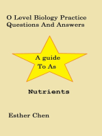 O Level Biology Practice Questions And Answers Nutrients