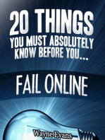 20 Things You Must Absolutely Know Before You Fail Online