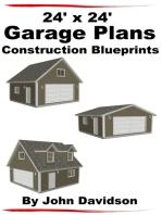 24' x 24' Garage Plans Construction Blueprints