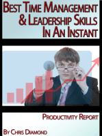 Best Time Management, Change, And Leadership Skills In An Instant