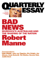 Quarterly Essay 43 Bad News