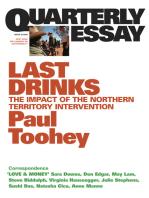 Quarterly Essay 30 Last Drinks