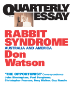 Quarterly Essay 4 Rabbit Syndrome