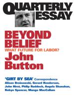 Quarterly Essay 6 Beyond Belief