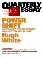 Quarterly Essay 39 Power Shift