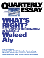 Quarterly Essay 37 What's Right?