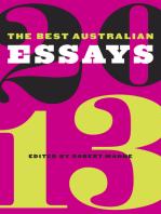 The Best Australian Essays 2013