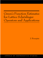 Green's Function Estimates for Lattice Schrödinger Operators and Applications. (AM-158)