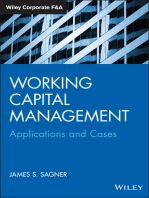 Working Capital Management: Applications and Case Studies