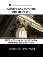 Pastoral and Teaching Ministries 101