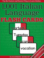 1,001+ Italian Language Flash Cards