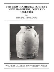 The New Hamburg Pottery: New Hamburg, Ontario 1854-1916