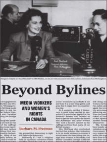 Beyond Bylines: Media Workers and Women's Rights in Canada