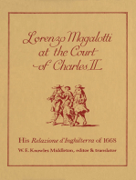 Lorenzo Magalotti at the Court of Charles II