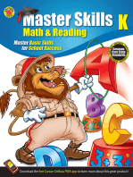 Math & Reading Workbook, Grade K