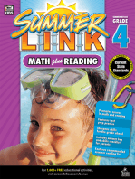 Math Plus Reading Workbook