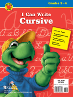 I Can Write Cursive, Grades 2 - 4