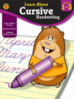 Cursive Handwriting, Grades 1 - 3