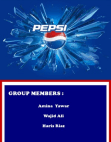 Project on Marketing Mix of Pepsi