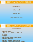 Project Report on The Bank of Punjab