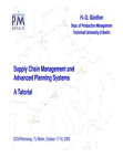 Supply Chain Management and Advanced Planning Systems