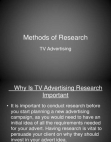 Research Project on TV Advertising