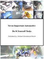 Seven Important Automotive Do It Yourself Tasks