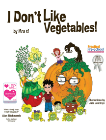 I Don't Like Vegetables!