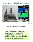 Economics of Nationalization