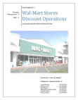 Strategic Management on Wal-Mart Stores : Discount Operations
