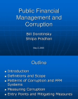 Public Financial Management and Corruption