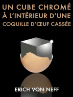 Un Cube chromé à l'intérieur d'une coquille d'œuf