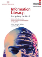 Information Literacy: Recognising the Need