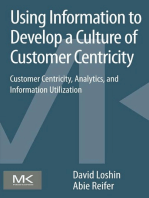 Using Information to Develop a Culture of Customer Centricity