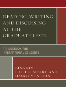 Reading, Writing, and Discussing at the Graduate Level: A Guidebook for International Students