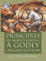 Principles in Maintaining a Godly Organization