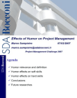 Effects of Humor on Project Management