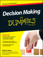 Decision Making For Dummies