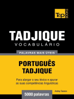 Vocabulário Português-Tadjique