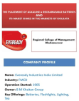 Maket Share of Eveready Industries India Limited - Kolkata