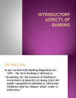 PPT on Aspects of Banking