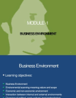 Business Environment - Internal Factors
