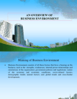 Overview of Business Environment