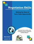 Negotiation Skills - Sales Opportunity