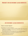 Project Report on Economic Load Dispatch
