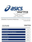 Project on Strategic Planning - ASICS