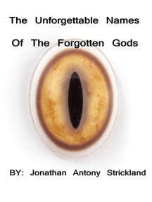 The Unforgettable Names Of the Forgotten Gods