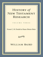 History of New Testament Research