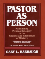 Pastor as Person
