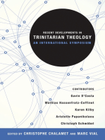 Recent Developments in Trinitarian Theology